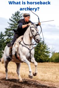 What is horseback archery
