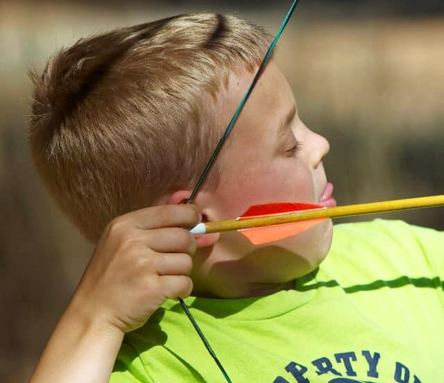Kids Doing Archery
